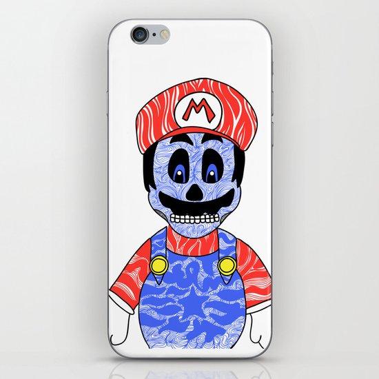 Blue Mario iPhone & iPod Skin