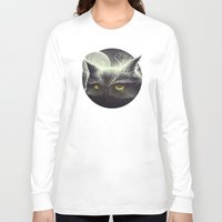 mad Long Sleeve T-shirts featuring Owl & The Moon by Dr. Lukas Brezak