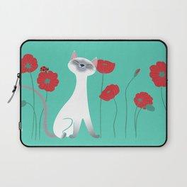 Siamese & Poppies Laptop Sleeve