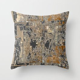 Steel factory II Throw Pillow