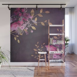FLOWERS & GOLD  Wall Mural