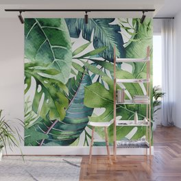 Tropical Jungle Leaves Wall Mural