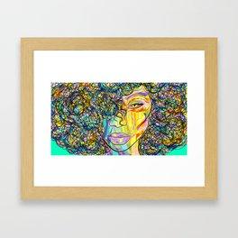 Watercolor Model Illustration Framed Art Print