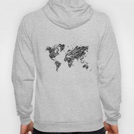 Scribble world map Hoody