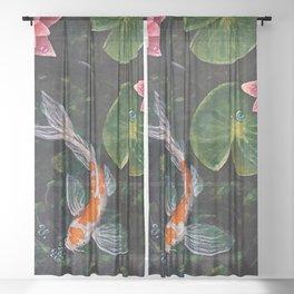 Koi Pond Sheer Curtain