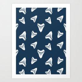 Sharks Tooth Pattern Art Print