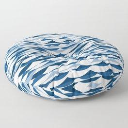 Glitch Waves - Classic Blue Floor Pillow