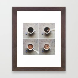 tea and milk Framed Art Print