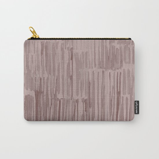 Simply Bamboo Brushstroke Red Earth on Clay Pink Carry-All Pouch