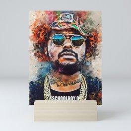 Schoolboy Q art Mini Art Print