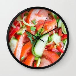 Vegetable salad Wall Clock