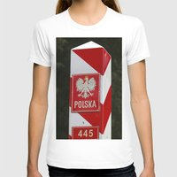 poland T-shirts featuring Frontier between Poland and Germany by Premium