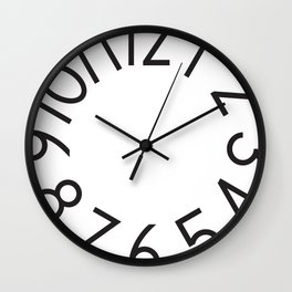 Cut numbers white Wall Clock