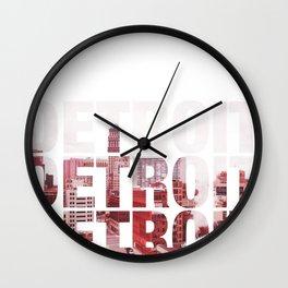 Detroit Landscape Wall Clock