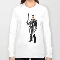 terminator Long Sleeve T-shirts featuring The Terminator by Ayse Deniz