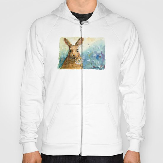 Funny rabbits - With Dandelions 548 Hoody