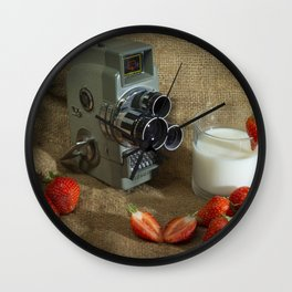 Sekonic and Strawberries Wall Clock