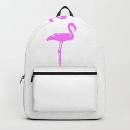 We Are The Three Flamingos Silhouette In Pink Backpack