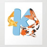 K is for Koi Art Print