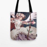 madoka magica Tote Bags featuring Puella Magi Madoka Magica by Ravenno