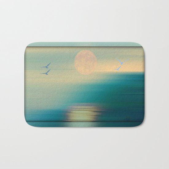Tranquil Waters - Painterly Bath Mat