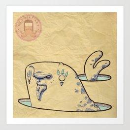 Foca con pesce Art Print