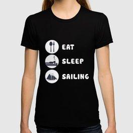 Eat Sleep Sailing Yacht Sailboat Yachting T Shirt T-shirt