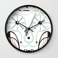 happy skull Wall Clock