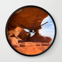 Red Rock Pillars Wall Clock