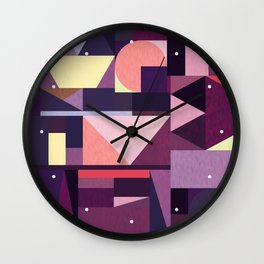 Kaku Purples Wall Clock