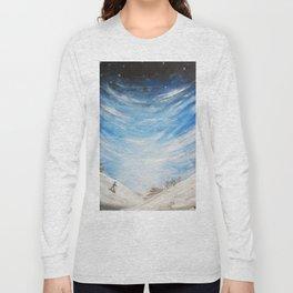 Snow scene - snowboarding on winter mountain Long Sleeve T-shirt