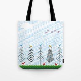 Treetop Birds Tote Bag