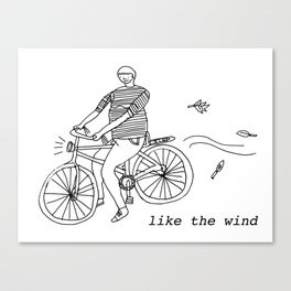 Like the wind Canvas Print