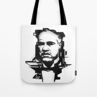 the godfather Tote Bags featuring The GODFATHER by A. Dee