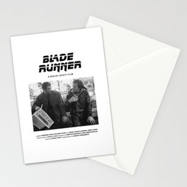 Blade Runner Behind the Scenes Movie Poster Stationery Cards