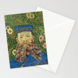 Portrait of the Postman Joseph Roulin by Vincent van Gogh Stationery Cards