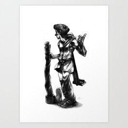 Regretful Adventurer  Art Print