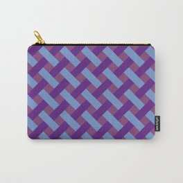 Purple And Blue Line Geometric Patterns Carry-All Pouch
