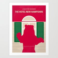 No443 My The Hotel New Hampshire minimal movie poster Art Print