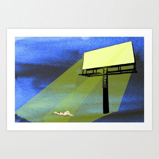 Billboard Tan  Art Print