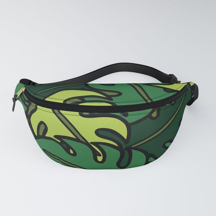 Monstera Leaf Pattern Fanny Pack