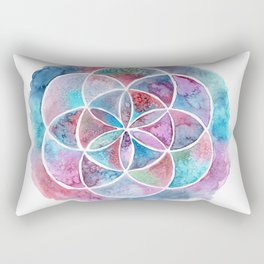 Watercolor Mandala II Rectangular Pillow