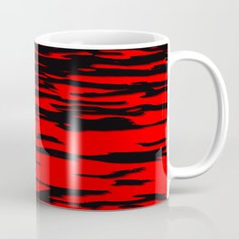 Black red abstract wave Coffee Mug