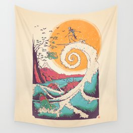 Surf Before Christmas Wall Tapestry
