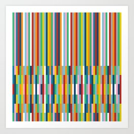 Brick Columns Art Print