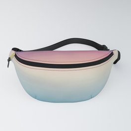 Modern watercolor navy blue pink sunset pattern Fanny Pack