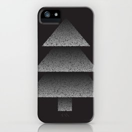 Grey Christmas Tree iPhone Case