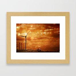 Windmills near Kastrup airport, Denmark Framed Art Print