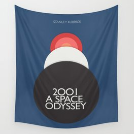 2001 a Space Odyssey, Stanley Kubrick alternative movie poster, dark blue  classic film, cinema love Wall Tapestry