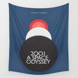 2001 a Space Odyssey, Stanley Kubrick alternative movie poster, dark blue  classic film, cinema love Wall Tapestry